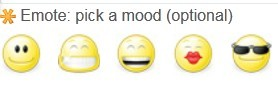How many emoticons you can use in Fanpop for comments?