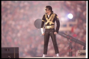 This photograph of Michael was taken at the 1993 Superbowl halftime performance