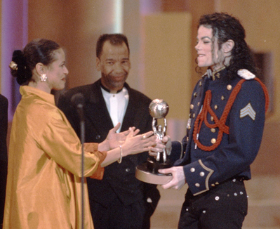 This photograph of Michael was taken at the 1994 NAACP Image awards