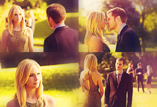 Klaus:I was wondering what time I should pick you up tomorrow.What did Caroline answer?