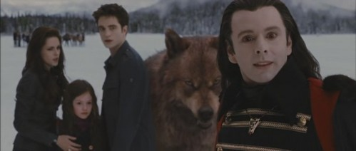 Who is Aro looking at?