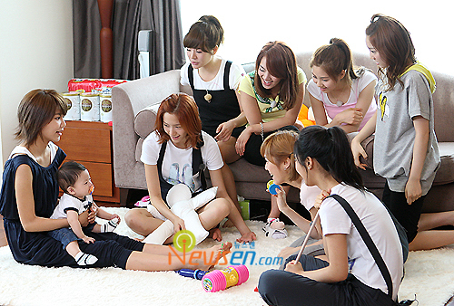 What is the name of the baby in the reality show SNSD's Hello Baby?
