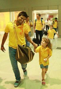 who's daughter is that?(player of csk)