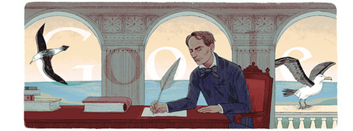 google used that picture to celebrate which writer ?