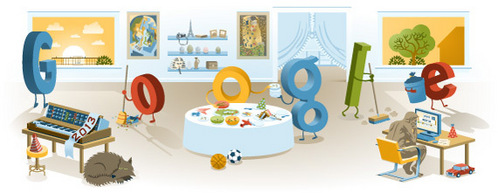 Google used that picture to celebrate which day ?