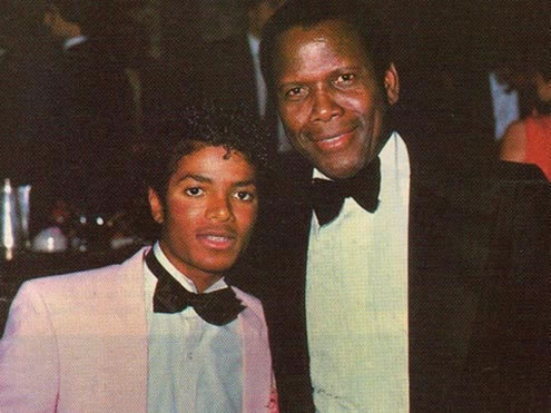 Who is this legendary Academy Award-winning actor in the photograph with Michael Jackson