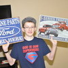me holding up my car stuff for my wall the Christmas of 2012 AlexJean photo