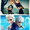 Mavis/Wilbur & Elsa/Jack Frost chesire photo