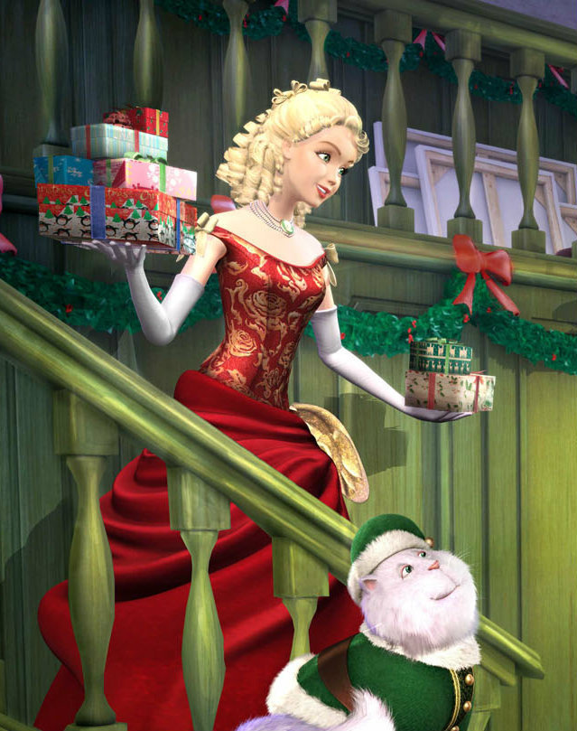 Fanpop - 1Barbiemoviefan's Photo: Eden Starling and Chuzzlewit from Barbie in a Christmas Carol