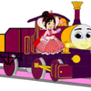 Lady with Princess Vanellope, her Open-Topped Carriage & Shining Gold Lamps Fredericko007 photo