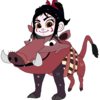 Vanellope dressed as Pumbaa Fredericko007 photo