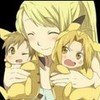Winry with Pikachu Al and Ed Kibahina96 photo