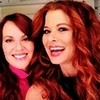 Debra Messing and Megan Mullaly// Icon by me drewjoana photo