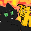Hollyleaf,Jayfeather,and Lionblaze in the fire! CookieChips01 photo