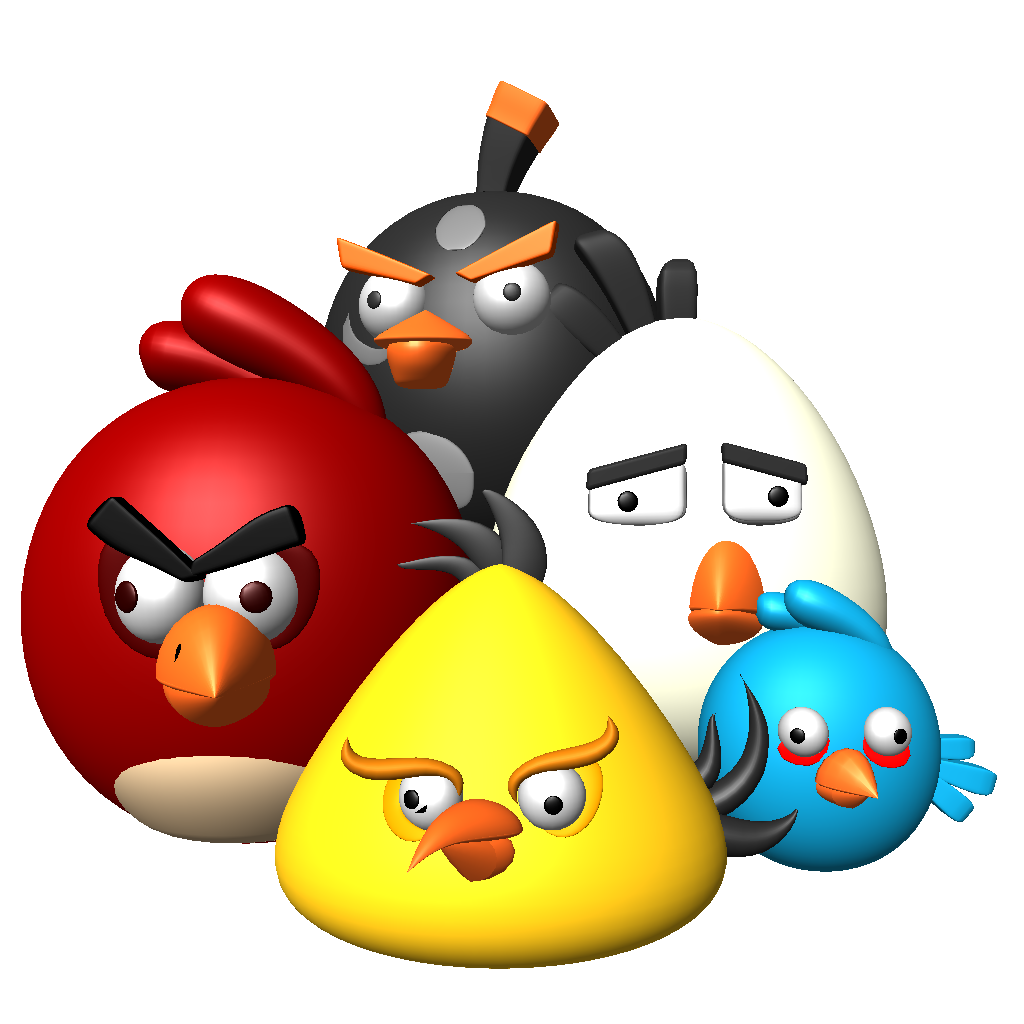 3D angry birds