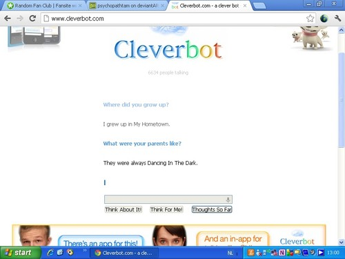 Bruce Springsteen on Cleverbot!