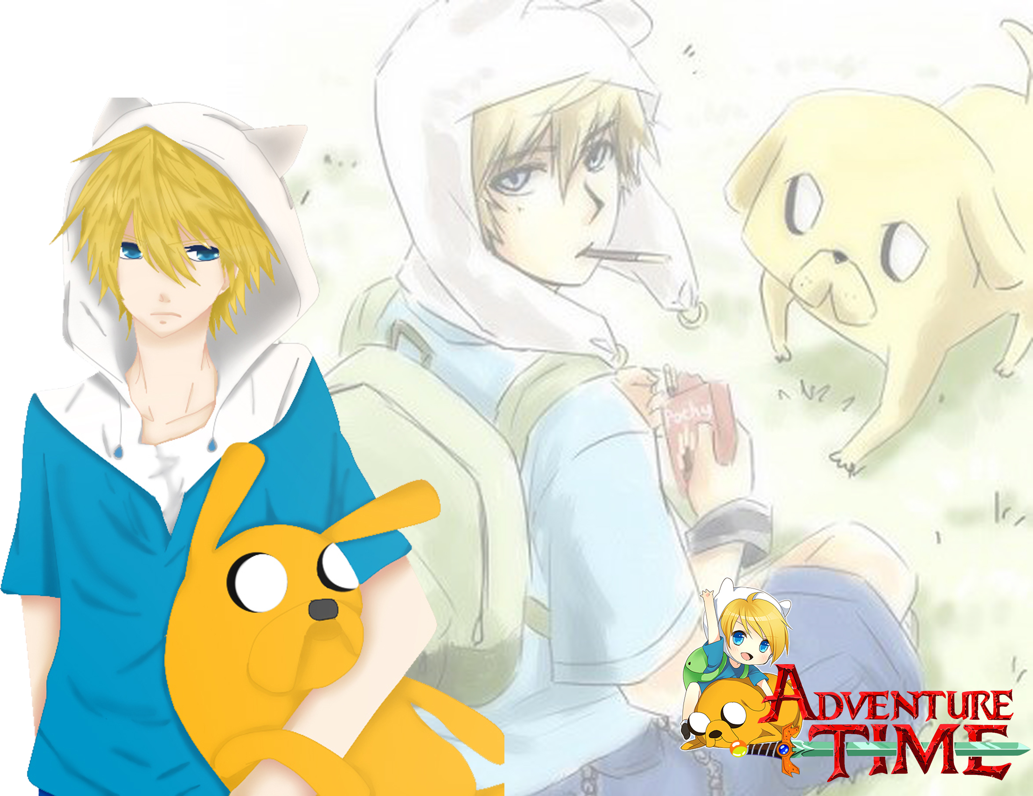Anime Adventure Time Pictures finn and jake anime - adventure time with finn and jake