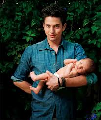 Jackson Rathbone with his son
