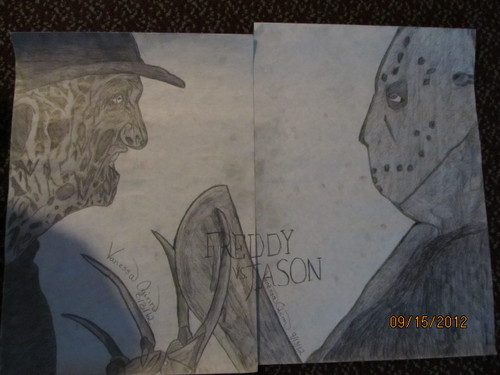 My Freddy Vs. Jason Drawing