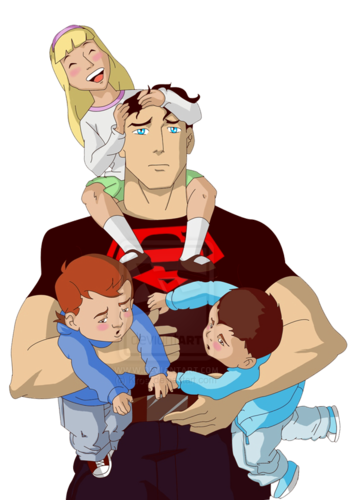 Superboy and kids