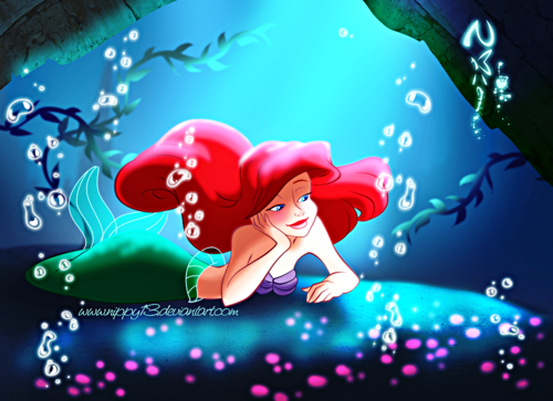 Walt Disney peminat Art - Princess Ariel