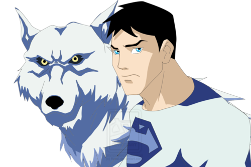 Wolf and Superboy (Polar Stealth)