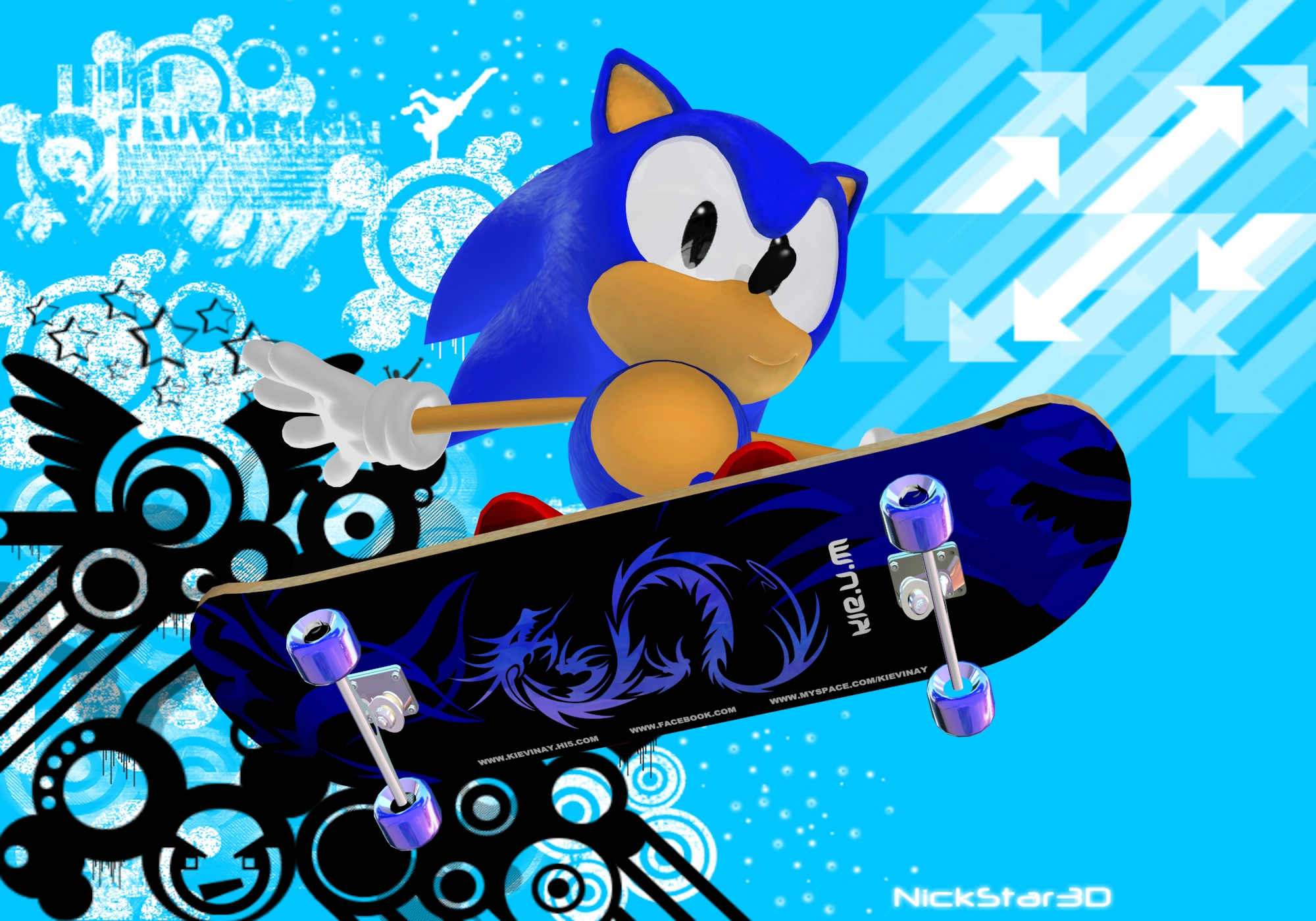 Classic Skating Sonic The Hedgehog Heroes Team Photo 32100119