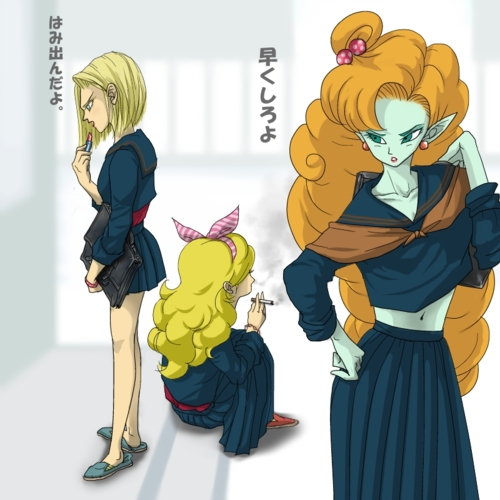 DBZ School Girls (Zangya, 18 & Launch)