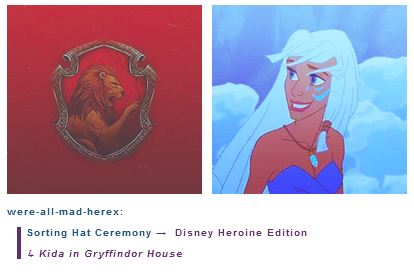 Kida is in Gryffindor House