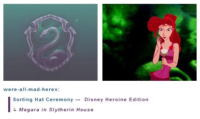 Megara is in Slytherin House