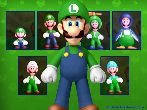 Luigi in new super mario bros wii