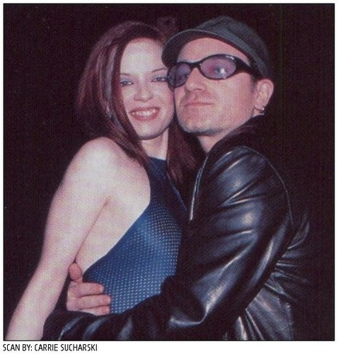 Shirley Manson and Bono