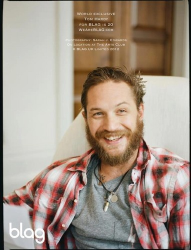 Tom Hardy Blag Magazine Cover
