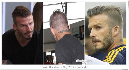 David Beckham New hairstyle 2012