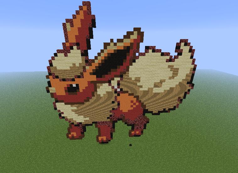 Flareon Minecraft Pixel Art Fan Art 32388728 Fanpop