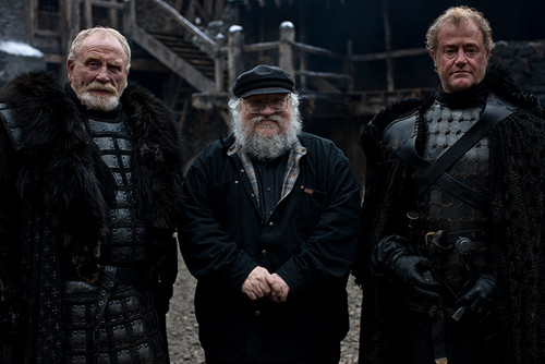 James Cosmo, George R.R. Martin, and Owen Teale