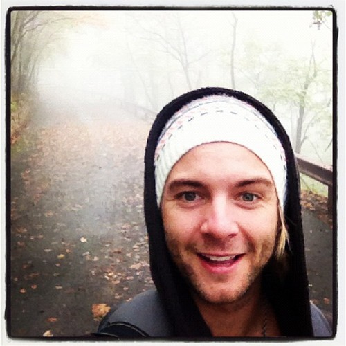 Hiking through the fog in West Virginia