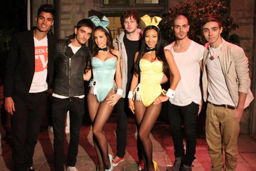 The Wanted in the Playboy Mansion