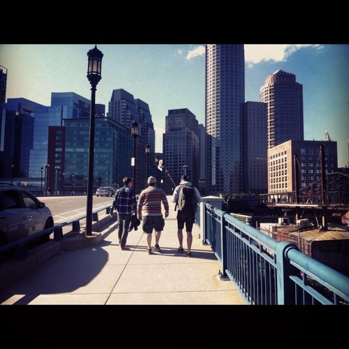 The lads heading in to Boston @davebakey @barrykerr @keithharkin