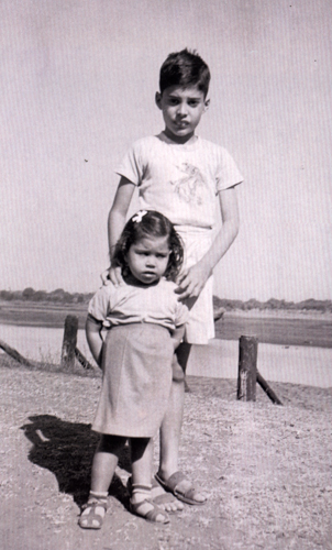 Young Freddie with sister Kashmira