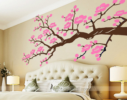 ceri, cherry Blossom Branches dinding Stickers