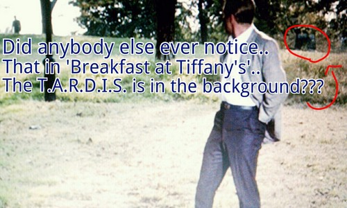 Doctor Who in Breakfast at Tiffany's