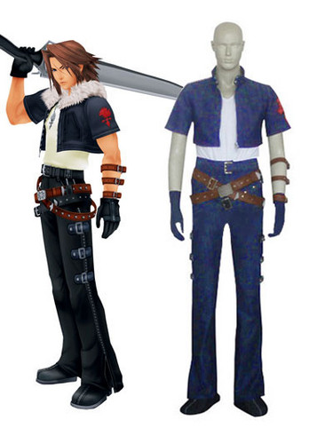 Kingdom Hearts 2 Squall Cosplay Costume