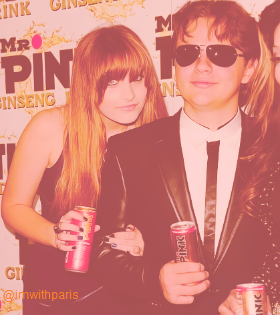 Paris Jackson and her brother Prince Jackson at Mr màu hồng, hồng Drink Launch Party ♥♥