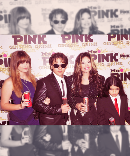 Paris, Prince , Latoya Jackson and Blanket Jackson at Mr Pink Drink Launch Party ♥♥