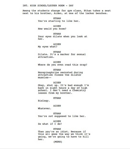 Potential Spoiler! Season 3 Scenario: Twins Audition Page 1