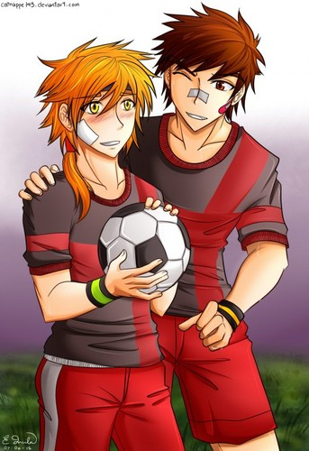 strahl, ray and his ex Aiden at Fußball Practice