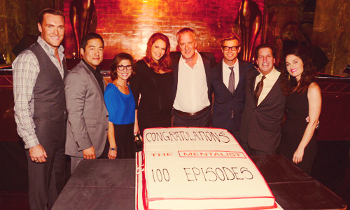 The Mentalist Cast, 100th Episode Celebration