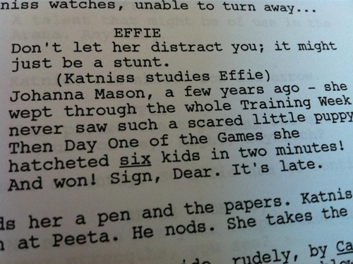 Catching Fire script