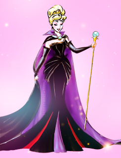 disney Princesses with Designer Villain gowns